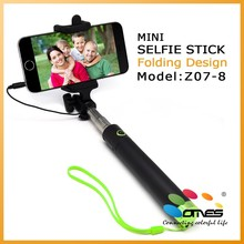 2015 New Model handheld Monopod Selfie Stick Cable Take Pole for iPhone 5S