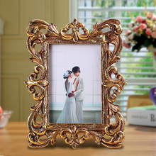 2015 beautiful girl sex arabic photo frame baby girl boy one year souvenir photo frame golden new design 4x6 inch for home decor
