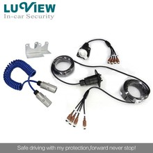 7-Pin Curly Trailer Cable with Anti-jamming Connector for Car Security System
