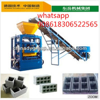 Dongyue new technology hollow and solid blocks interlocking bricks making Machine