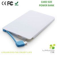 Promotion Gift Power Bank 2500mAh, Power Bank External Battery Pack with Card Size Power Bank
