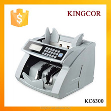front loading money counter KC6300 LCD ,multi-function banknote bill cash currency checking counting detecting machine