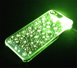 LED Flashing Clear Skin Hard Case For Apple iPhone 5G 5S,light up cell phone cases for iphone 5
