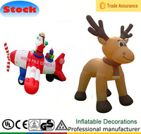 DK-109 111 giant 8ft santa airplane 8ft Reindeer inflatable christmas decoration Promotions giveaways