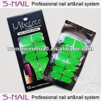 Hot sale solid color real nail polish strips wholesale (SNPS005)