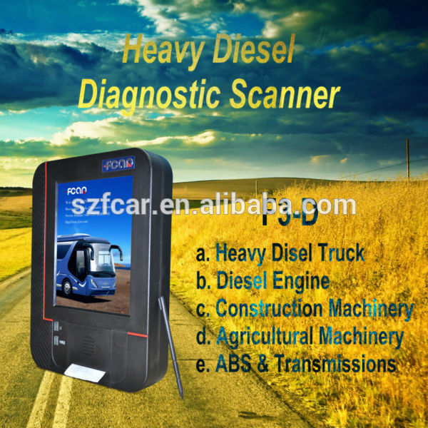 F3-d <span class=keywords><strong>diesel</strong></span> truck diagnóstico scanners para Heavy duty truck diagnóstico UD internacional VOLVO MAN FAW FUSO DAF