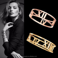 New style stainless steel figure bangle,roman numbers hollow bangle(SWTPR752)