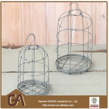 Antique Painted Metal Bird Cage Small Bird Cage