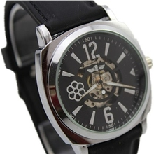 chinese winner brand skeleton transparent design automatic mechanical silicone men fashion watch