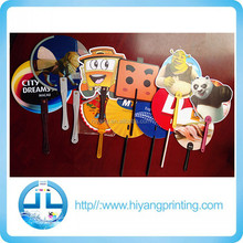 Custom Logo Summer Promotional Gift plastic Chinese fan/pp hand fan