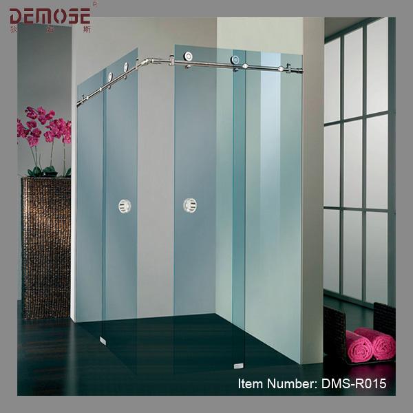 Hotel three panel sliding glass shower door hardware buy for 3 panel tub shower doors