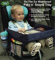 Kids Car Snack & Play Table/ Tray Waterproof Safety Portable/car seat tray