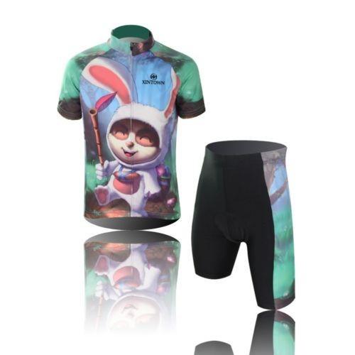 прекрасные велосипедные велосипед короткий рукав Одежда велосипедов детей спортивный костюм Джерси + шорты