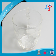 skull beer glass cup for bar drinking glass ware