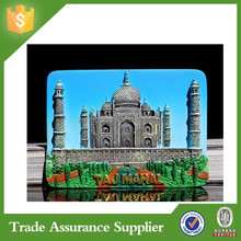 Tourist souvenir fridge magent resin 3D Taj Mahal country decor refrigerator magnet