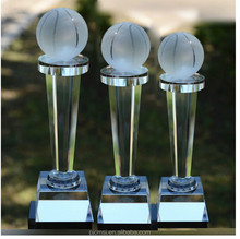 top sale crystal sporting trophy ,crystal basketball/table tennis award