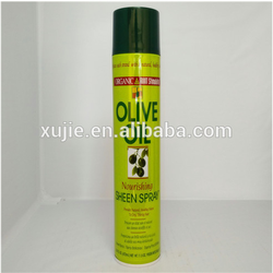pure olive oil hair styling gel& hair hold spray made in guangzhou china