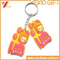 Personalized Soft rubber PVC Keychain/ Cartoon pvc keychain/ mobile chain