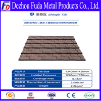 Aluminum Zic Roofing Shingle/Colorful Sand Coated Steel Roof Tile