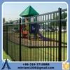 square fence post/wrought iron fence ornaments/tubular iron fence