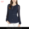 Ladies navy stretch long sleeve blouse peasant blouse designs