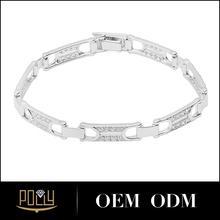 Zircon jóias pulseira para homens 925 pulseira de prata