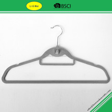 LMF004 Fashion Velvet Hanger Costco With Indent and Tie-bar