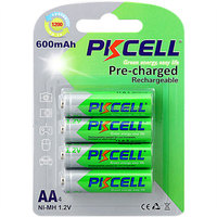 Cheap nimh aa 600mah 1.2v battery from PKCELL,reruiting agents worldwide,welcom to join us!