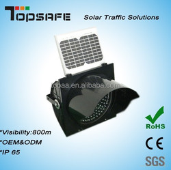 SGS Approved Factory solar power yellow flashing light