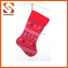 Yiwu factory sales christmas knitted sock