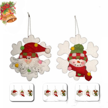Popular set of Snowman&Santa Claus Xmas tree hanging ornament for promotion