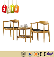 Restaurant chair leather cushion solid wood dining chairs armchairs on sale