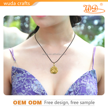 Womens 3D Smart gold pendant 24k gold plated , Golden Necklace Best Gift