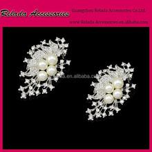 Pearl Shoe Jewelry, Vintage Rhinestone& Pearl Shoe Clips for Bridal RLD00126RSC