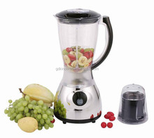 2015 hot selling blender 1500ML thick plastic jar with ABS Base 2 in 1 blender