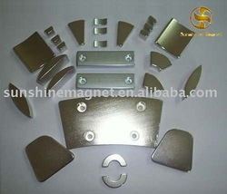 sintered Neodymium Motor Magnet with Arc,Segment,Tile,Cylinder,Block,Ring..Shape