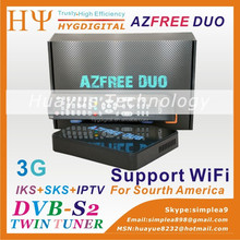 Azfree duo sat receiver HD+FTA digital satellite receiver DUOSAT azfree