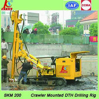 SKM200 multi-function crawler down the hole hammer drill rig for sale