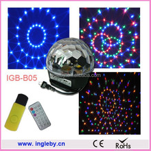 color changed disco ball lighting remote control led light