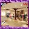 2015 factory customized clothing boutique displays shelf trade showcase