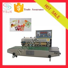 Plastic bag continuous band sealer with printing