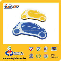 Company promotional gifts special design clear epoxy car shape fridge magnet.