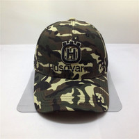 cotton desert camo baseball cap and hat with Velcro enclosure and custom 3D embroidery logo