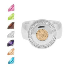 stainless steel jewelry color stone change ring stainless steel jewelry fashion jewelry sets