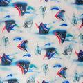 80 S patrón de la tela de encargo azul vivo impresión en blanco 100 algodón tela de satén