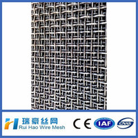 14 gauge stainless steel crimped wire mesh panel