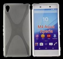 Wholesale price phone case X- line Soft TPU Gel Cover Case For sony xperia M4 Aqua