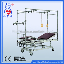 high quality adjustable medical equipment orthopedics traction bed three crank two functions