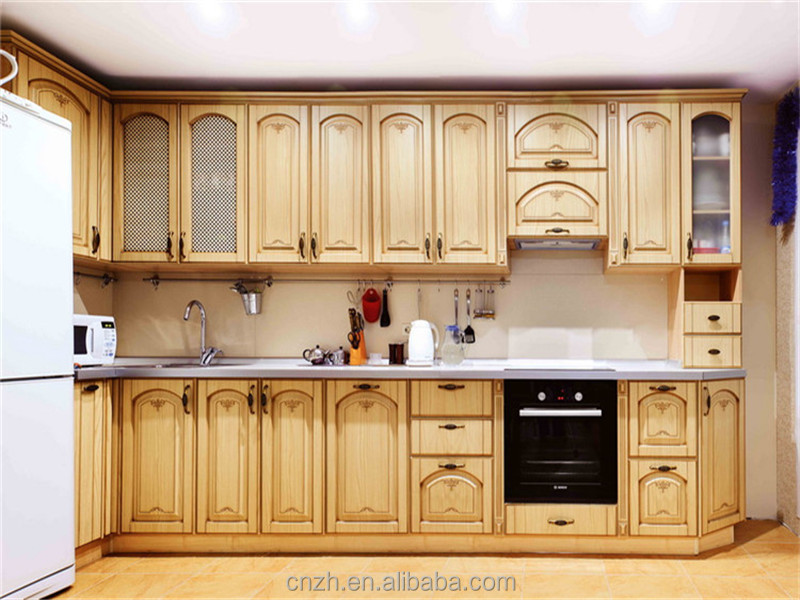2015 Cherry Solid Wood High End Knock Down Hanging Kitchen Cabinet Design B