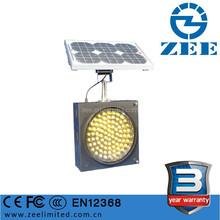 3 years warranty 300mm LED Solar Flashing Amber Traffic Light, Waterproof Solar Powered Traffic Warning Light Blinker